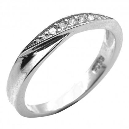 Elfi 925 Genuine Silver Engagement Ring P26 - Destined to Beloved