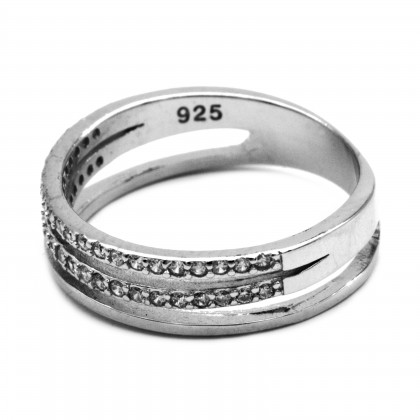 Elfi 925 Genuine Silver Engagement Ring P68 – Three Cheers