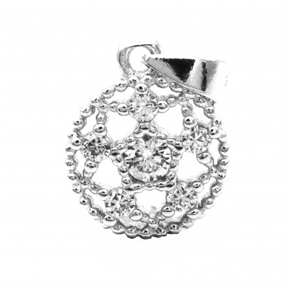 - Elfi 925 Sterling Silver The Star Round Pendant SP151