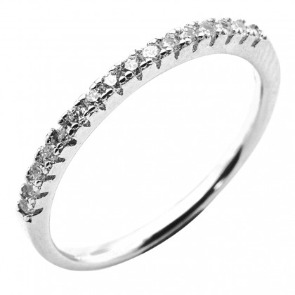 Elfi 925 Genuine Silver Engagement Ring P49 - The Affection