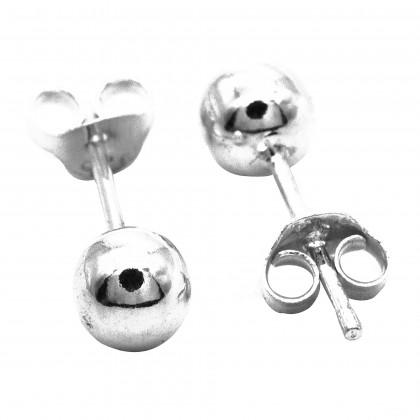 : Elfi 925 Genuine Silver Ballpoint Earrings SE133