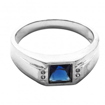 Elfi 925 Genuine Silver Engagement Ring R92 (Blue) – The Musess