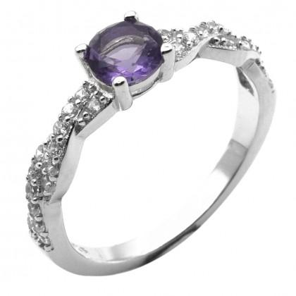 Elfi 925 Genuine Silver Engagement Ring D26 (Purple) – The Alain