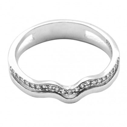 Elfi 925 Genuine Silver Engagement Ring P71 - Rosaine Ring